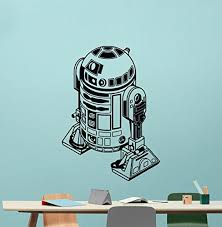 Star Wars R2d2 Wall Decal R2d2 Droid Robot Character Quote Living Room Wall Decals Lettering Vinyl Sticker Kids Wa Art Wall Kids Wall Art Designs Stencils Wall