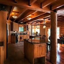 rustic log cabin kitchen cabinets log