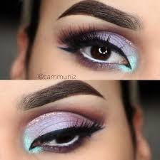 glitter cut crease eye makeup is