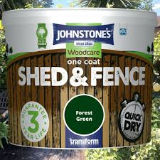 More Sheds Fencing Painting 5l 9l Johnstones Woodcare One Coat Shed And Fence Paint Garden Uv Protection In 2020 Fence Paint Johnstone Shed