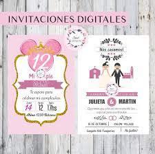 Invitaciones Digitales Cumpleanos Bautismo Comunion 15 Anos