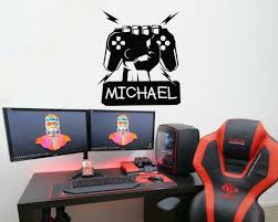 Custom Gamer Name Wall Decals Gaming Room Decoration Boys Stickers Wallpaper For Sale Online
