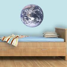 Earth Wall Decal Peel Stick Color Graphics Removable Wall Art Space Ed1 Wall Decal