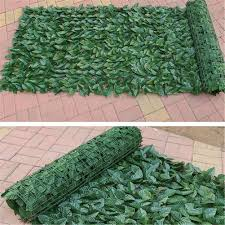 0 5x1m Artificial Hedge Leaves Faux Lvy Leaf Privacy Fence Screen For Garden Decoration Backyard Fence Mesh Balcony Garden Fence Fencing Trellis Gates Aliexpress