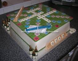 coolest homemade scrabble cakes