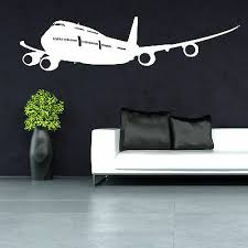 Boeing 747 Passenger Airliner Aeroplane Vinyl Wall Art Sticker Decal Ebay