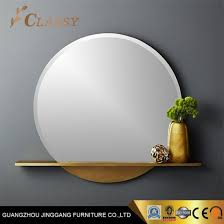 round shaped gold metal frame