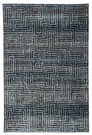 utter geometric blue black area rug
