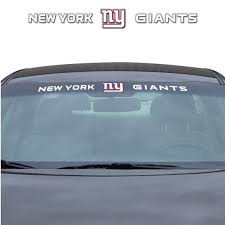 Nfl New York Giants Windshield Decal Fanmats Sports Licensing Solutions Llc