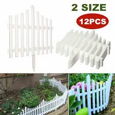 Diy 12pcs Plastic Garden Fence Set Courtyard Edging Border Fencing Panel Outdoor Yard Garden Decorations Easy Assemble White Aliexpress