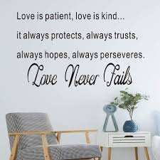 Amazon Com Vodoe Quote Wall Decals Bedroom Wall Decal Living Room Bible Verse Scripture Religion Prayer Church Jesus Pray Home Art Decor Vinyl Stickers Love Is Patient Love Is Kind Love Never Fails