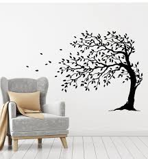 Vinyl Wall Decal Tree Leaves Autumn Nature Home Interior Decor Sticker Wallstickers4you