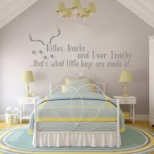 Rifles Racks And Deer Tracks Wall Decals Quotes Vinyl Cute Nursery Wall Stickers Hunting Themed Boy Rooms Wall Decor Mural Lc074 Wall Sticker Nursery Wall Stickersdecoration Murale Aliexpress