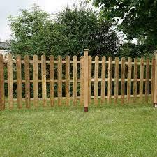 Mercia 4ft High 1220mm Mercia Palisade Round Top Fence Panels Pressure Treated Fencing Elbec Garden Buildings