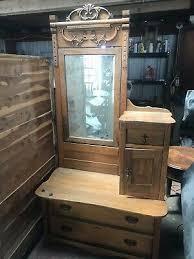 antique victorian oak dresser vanity