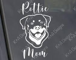 Rottweiler Car Decal Etsy