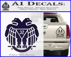 Freemason Scottish Rite Fraternal Decal Sticker D2 A1 Decals