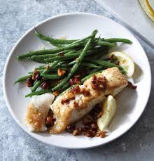 gluten free pan-seared halibut with ...