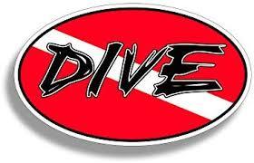 Amazon Com Diver Down Dive Oval Sticker Gear Tank Bag Ocean Beach Vinyl Decal Graphic Locker Die Cut Digital Car Truck Boat Kayak Yak Sail Automotive