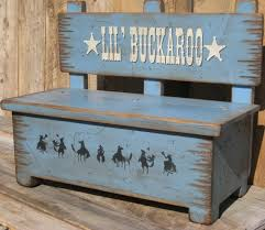 Toy Box Bench Kid S Bench Storage For Toys Western Etsy