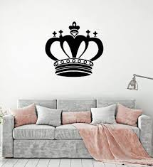 Vinyl Wall Decal King Crown Royal Art Home Decor Interior Room Sticker Wallstickers4you