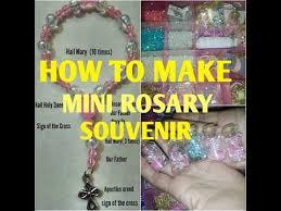 how to make mini rosary souvenir