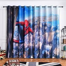 2020 New Modern Spiderman Fabric Cartoon Blackout Curtains For Kids Room Printed Curtain For Boys Bedroom Window Treatment Bedroom Cj191217 From Quan09 39 35 Dhgate Com