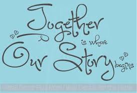 together is where our story begins wall decal stickers quote