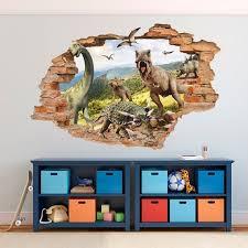 Jurassic Park 3d Wall Sticker Dinosaurs Wall Decal Etsy