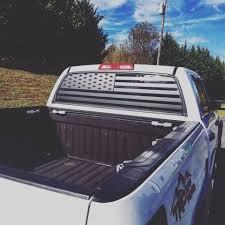Toyota Tundra Rear Window Decal American Flag Overlook Graphics Llc