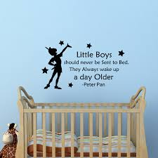 Removable Peter Pan Quotes Wall Sticker For Kids Room Decoration Sale Up To 70 Stickersmegastore Com