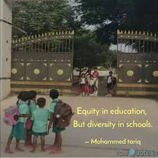equity in education but quotes writings by mohammed tariq