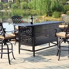 5 piece cast aluminum patio party bar