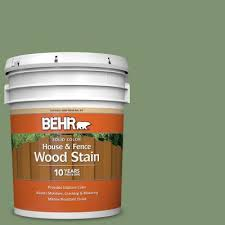 Behr 5 Gal S410 7 Equestrian Green Solid Color House And Fence Exterior Wood Stain 03005 The Home Depot