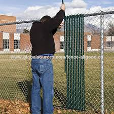 Chinaboundary Chain Link Fence With Slats Green Chainlink Boundary Fence On Global Sources