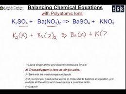 balancing chem eq polyatomic you