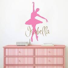 Amazon Com Ballerina Wall Decal Wall Decal Name Girls Name Decal Girl Wall Vinyl Sticker Ballet Nursery Personalized Name Nursery Wall Decor F98 Handmade