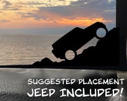 Jeep Window Decal Etsy