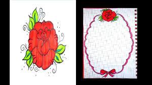رسم وردة جميلة هواية الرسم لمحبى الرسم الحبيب للحبيب