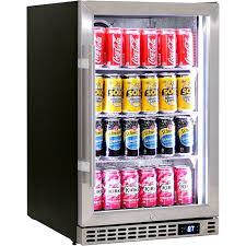 front venting glass door bar fridge