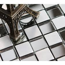 adhsive mosaic tiles silver square l