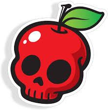 Amazon Com Poison Apple Skull Sticker Car Truck Laptop Cup Window Bumper Graphic Fruit Die Cut Vinyl Decal Everything Else