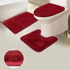 uphome gy 3 piece bath rug