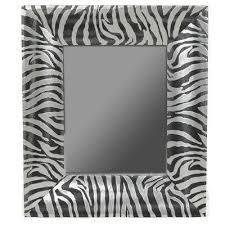 zebra print wall electric accent mirror