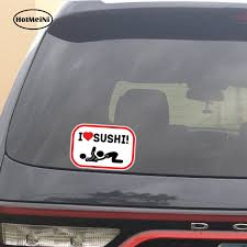 I Love Sushi Adult Funny Car Bumper Sticker Window Decal 5 X 3 Bumper Stickers Decals Magnets