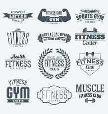 fitness logo sammlung kostenlose vr
