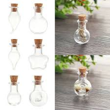 5pcs mini glass glass bottles cork