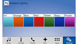 adjusting ambient lighting in sync 3