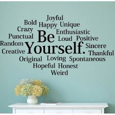 Shop Be Yourself Subway Collage Wall Decal Vinyl Words Lettering Quote Inspiration Overstock 17292669