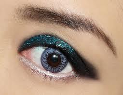 rock n roll glitter eye makeup